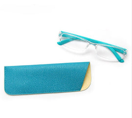Style 7725 Women's FRame-less Clear Designer Reading Glasses    :: Available in 3 Colors
