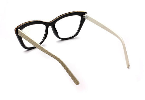 Style 7226 Women's Designer Quilted Cat Eye Reading Glasses :: Available in 4 Colors