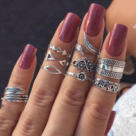 Oh My Boho!  ::  9 -Piece Boho Midi  Ring Set -
