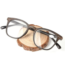 Style 8826 Men's Faux Wood Round Reading Glasses  :: Available in 2 Colors