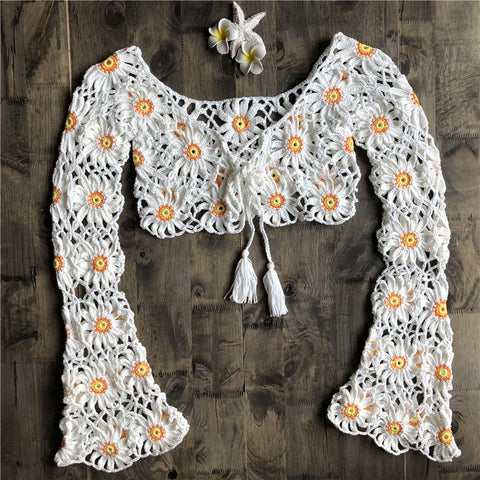 Style 900 Handmade Knitted Daisy Cover-up