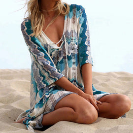 Style 908 Hand Crafted Boho Shawl Style Beach Cover Up