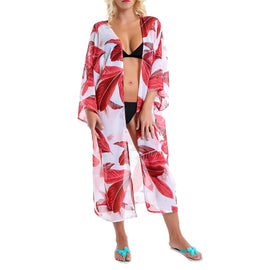 Style 910 Tropical Print Beach Caftan Cover Up