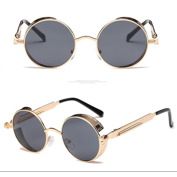 Style 9904 Gold/Silver Plate Metal Steampunk Sunglasses   :: Available in 13 Colors