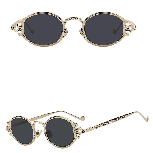 Style 9908 Carved Antique Fashion Sunglasses   :: Available in 6 Colors