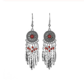 La Bohem Collection  - Natural Stone Dream Catcher Earrings :: Available in 5 Colors