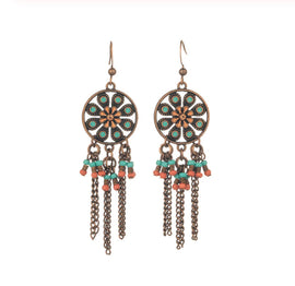 La Bohem Collection  - Whimsy Natural Stone Dream Catcher Earrings