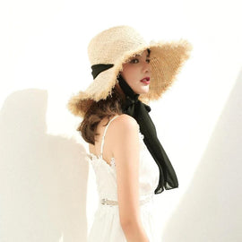 Style 313 Hand Crafted Straw & Raffia Summer Hat
