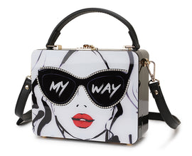 Novelty Collection My Way Throwing Shade Fashionista Tote/Shoulder Bag