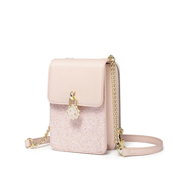 Pink Bling Cross Body Satchel