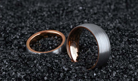 Tungsten Carbide Steel Couples Rings