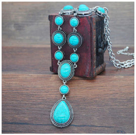 Vintage Turquoise & Silver Necklace I