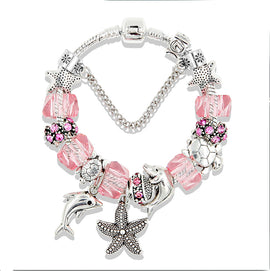 Under the Sea Collection I :: Handmade European Charm Bracelet ::Available in 5 Colors