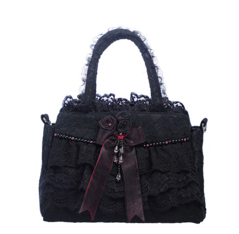 Handmade Vamp & Lace Shoulder bag - Available in 3 Color Combinations