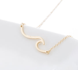 Wave Bar Pendant - Available in 3 Colors