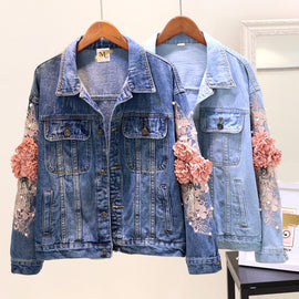 Sooo Whimsy Embellished Denim Jacket :: @ Colors Available :: Limited Quantities