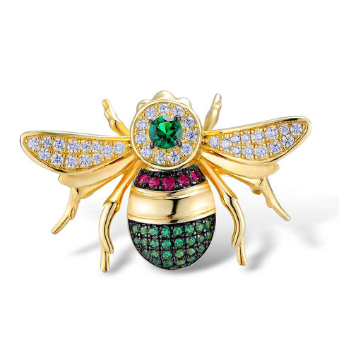 Whimsy Chubby Party Bee Luxury Brooch