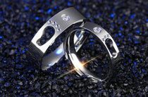 Footprints Couples Ring Set