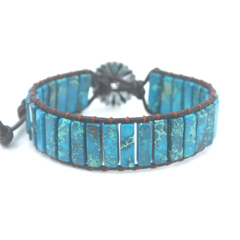 Handmade Natural Stone Wrap Bracelet - Available in 14 Colors