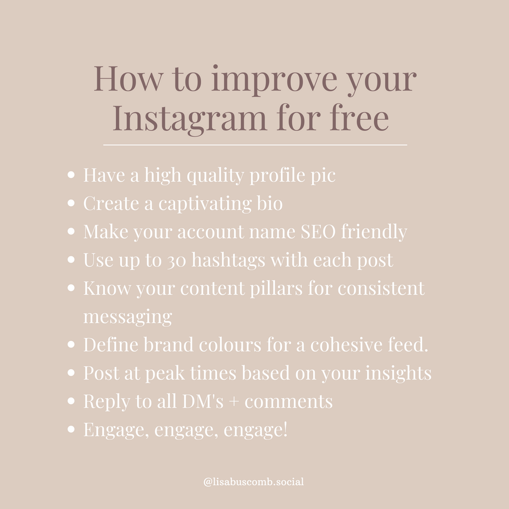 9 Ways to Improve Your Instagram For Free