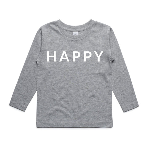 Kids tees and hoodies, happy, long sleeve tshirt and hoodie