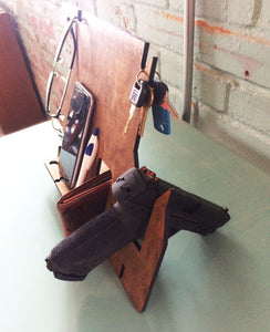 Mens Nightstand Organizer Plus Gun Stand