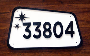 Mid Century Modern House Number Sign, Custom Address Sign #23