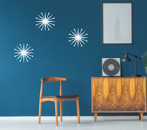 Mid-Century Modern Starburst Wall Decor - 10in