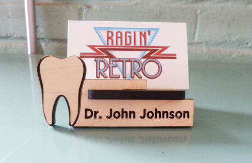 Dentist Business Card Holder - Personalized and Adjustable