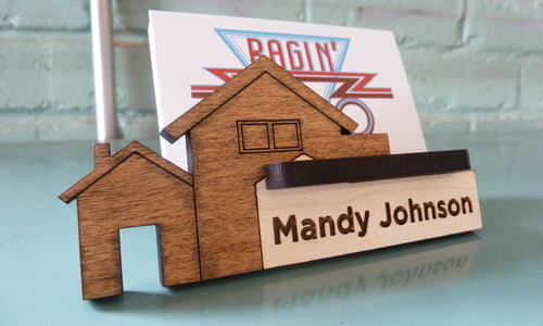 Real Estate Business Card Holder - Personalized and Adjustable