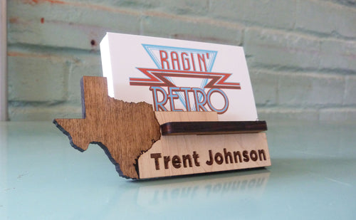 Texas Business Card Holder - Personalized and Adjustable