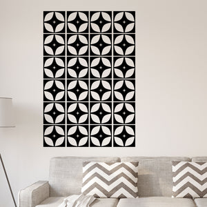 Mid Century Modern Wall Decal Tile