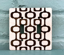 Load image into Gallery viewer, Mid Century Modern Light Switch Cover - Double Switchplate
