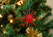 Load image into Gallery viewer, Mid Century Modern Christmas Ornament - Starburst Ornament