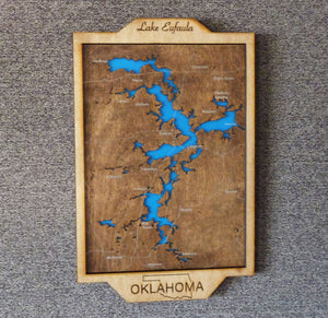 Lake Eufaula Map Decor