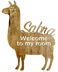 Custom Sign - LLama w/Name