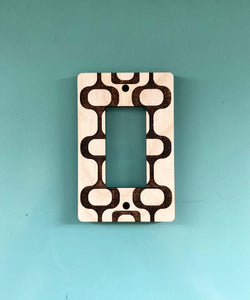 Mid Century Modern Wall Outlet Plug Cover for GFI and Rocker Switches