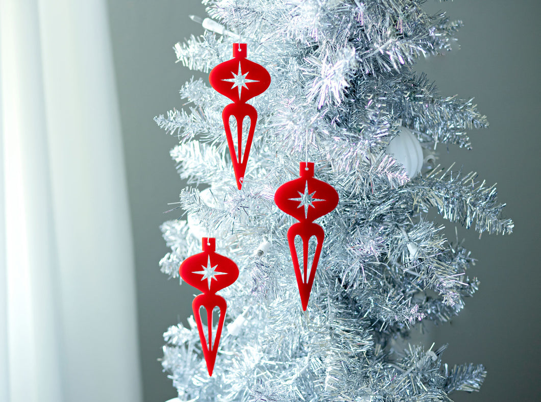 Mid Century Modern Christmas Ornament - Icicle Ornament