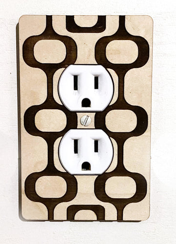Mid Century Modern Wall Outlet Plug Cover