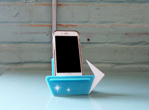 Phone Stand Docking Station - Mid Century Modern Style