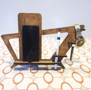 Phone Holder and Docking Station Mid Century Modern Style