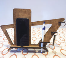 Load image into Gallery viewer, Phone Holder and Docking Station Mid Century Modern Style