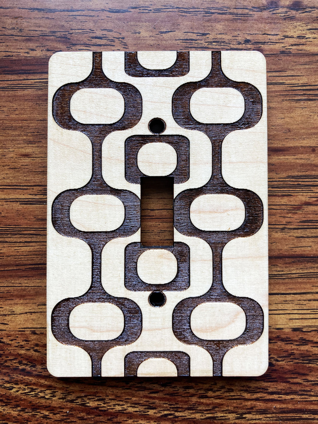 Mid Century Modern Light Switch Cover - Single Switchplate