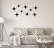 Load image into Gallery viewer, Vinyl MCM Star Wall Decals - Retro Wall Decor