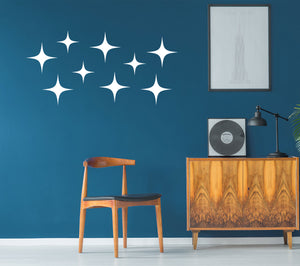 Vinyl MCM Star Wall Decals - Retro Wall Decor