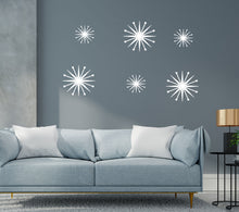 Load image into Gallery viewer, Vinyl Starburst Wall Decals - Retro Wall Decor