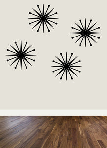 Mid-Century Modern Starburst Wall Decor - 9in