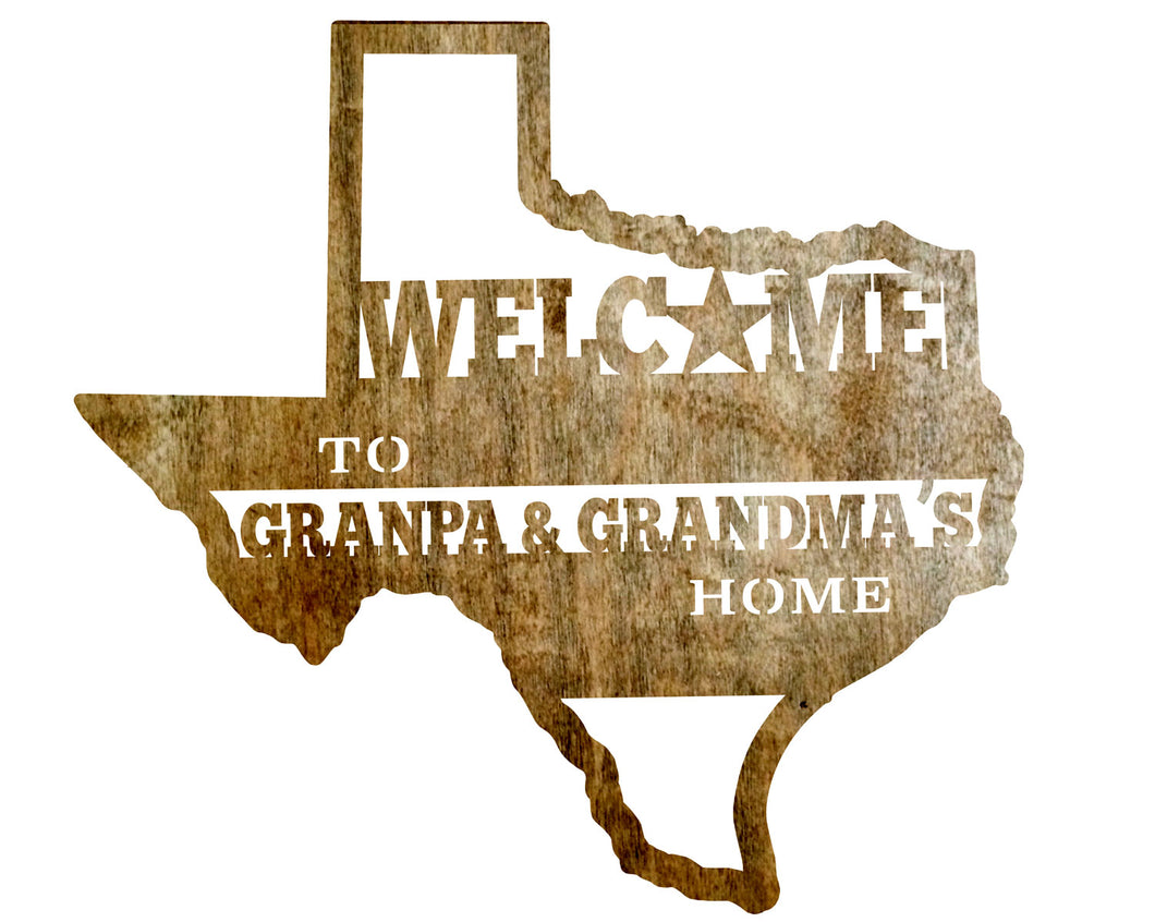 Custom Sign - Texas - Grandparents Home