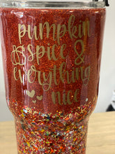 Load image into Gallery viewer, Pumpkin Spice and Everything Nice Bus 30oz Tumbler