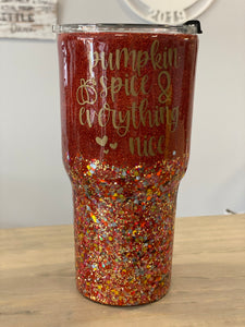 Pumpkin Spice and Everything Nice Bus 30oz Tumbler